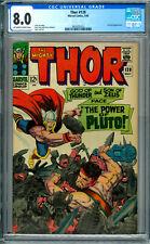 Thor # 128 CGC 8.0 OWW!  Hercules!  Kirby!