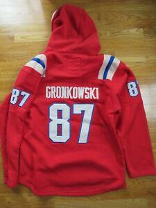 NFL Players ROB GRONKOWSKI No. 87 NEW ENGLAND PATRIOTS (XL) Sweatshirt Jersey