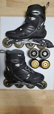 Rollerblade Zetrablade Mens Inline Skates, Size11 + 2 sets of wheels+bearings!