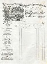 """""""FABRIQUE DE LIQUEURS SURFINES (FELIX BIGALLET Virieu)"""" Facture originale 1894"""