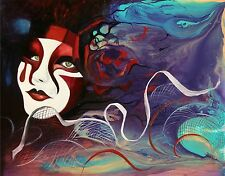 Venice Italy Carnival Mask Dream Party Limited Edition Art PRINT Andre Dluhos