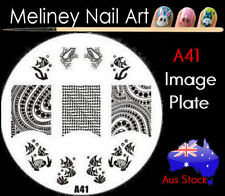 A41 Stamping Nail Art Image Plate Design Round XL Stencil metal Halloween