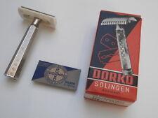 Dorko Solingen vintage antigua maquinilla de Razor 3 PCs Shaver from nos!
