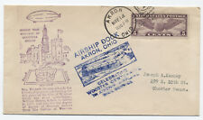 1932 Akron Ohio Wooster Centennial Airship Service cover [y1399]