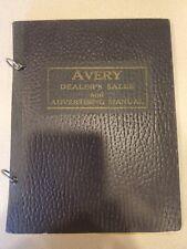 Avery Steam Tractor Machinery Catalog Manual Farm Ephemera