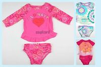 New OLD NAVY Girls Swimsuit Baby Toddler Tankini NWOT Size 12 18 5T