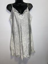 Vtg Victorias Secret Ivory Floral Babydoll Gold Label Bridal Lingerie Size M