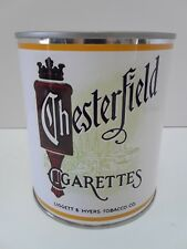 Vintage Chesterfield Cigarettes (Reproduction Tin Can) Tobacco Advertising
