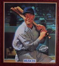 Vintage 1989 BUSCH BEER Baseball Great Poster ~ Lou Gehrig New York Yankees ART