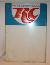 "Original ROYAL CROWN RC COLA Sign metal SODA pop vintage 38"" X 25"""