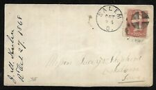 Usa: 1868; Cover 3 cts, red brown, Salem to Iowa EBN151