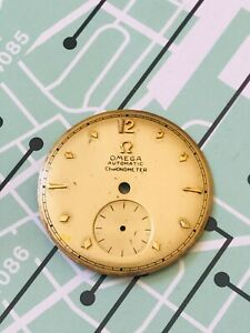Solid 18k Yellow Gold Omega Centenary Dial for Bumper movement, 27.6mm