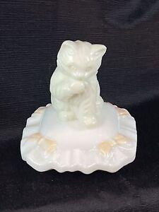 Vtg 1970s Sitting Pretty Avon Bottle, Vintage White Cat & Pillow Avon Bottle J