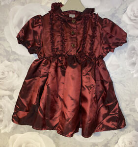 Girls Age 9-12 Months - Next Red Party Dress - Vintage 80s