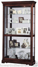 Howard Miller 680-337 Dublin - Traditional Cherry Curio Display Cabinet