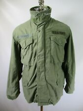 E8162 VTG US ARMY M-65 Cold Weather Field Coat Military Jacket Size S
