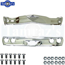1971 1972 Chevelle Malibu Front & Rear Bumper Kit With Bolts New