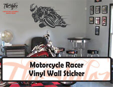 Motorcycle Racer Vinyl Wall Sticker