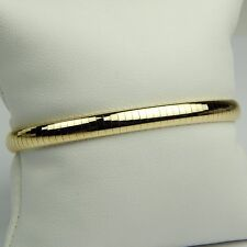 "Snake Omega Flexible Bangle Bracelet 14 kt Yellow Gold 6 3/4"" sku 3255"