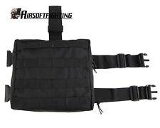 Molle Tactical Drop Leg Panel Utility Pouch - Black A
