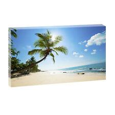 Bilder Keilrahmen Bild Strand Meer Wandbild Leinwand XXL Beach 135 cm*80 cm 217
