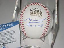 BEN ZOBRIST (Cubs) Signed 2016 WORLD SERIES Baseball w/ Beckett COA & Inscrip