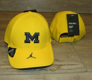Jordan Michigan Wolverines Authentic Team Issue Dri-FIT Adjustable Hat Cap Men's