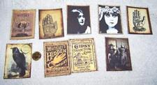 Halloween~Gipsy~Fortune Teller~Palmistry~Tarot~Linen Cardstock~Cards~Set 1
