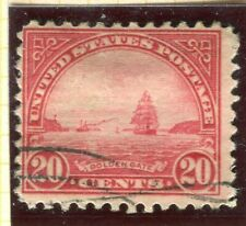 USA; 1922-28 early Definitives series Flat plate Print Perf 11 used 20c. value