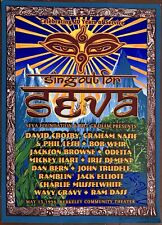20th Anniversary Concert poster 1998 Seva Foundation SIGNED by Odetta