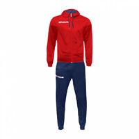Tuta Milano Givova Completo giacca Manica lunga e Pantalone TR029, 1204 Rosso-Bl