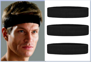 3 X Athletic Cotton Terry Cloth Headband THICK & COMFY Sweatbands Made In USA