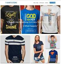 T-Shirt Store Website Business For Sale - Earn $113 A SALE. Free Domain|Hosting
