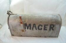 Vintage Rustic Mailbox Rural Farm House Galvanized Metal Us Mail Box Garden d