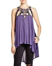 NWT FREE PEOPLE Vision Quest Embellished Tunic in Dusk (Purple) $98 - XS
