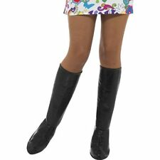 Womens GoGo Boot Covers 60s 70s Black White Silver Shoe Cover Tops Knee High NEW