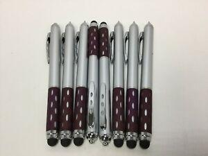 8 Lot Misprint Grip Stylus Pen, Touch Screen Stylus, Purple Grip