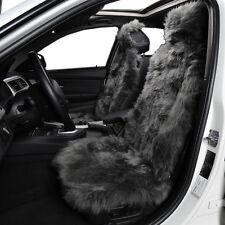 100% Natural Australian Gray Sheepskin Fur Universal Car Seat Cover Set
