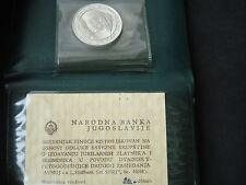 Yugoslavia, 20 Dinara, 1968, silver, original folder + certificate - rare; Tito