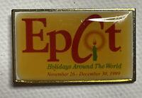 1999 Epcot Holidays Around The World Red Vintage Disney Pin 277