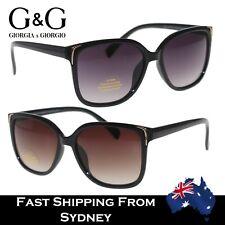 Popular Women Ladies Retro Sunglasses Black Brown Gold Boomerang Decorate