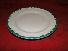 """Buffalo China Restaurantware GREEN SCROLL 9½"""" Wide Rimmed Dinner Plate"""