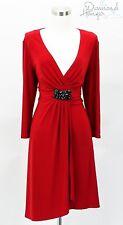 BOSTON PROPER Designer Dress Size Large L 10 12 Red Formal Career