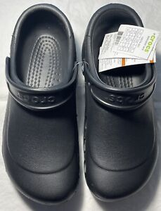 New Men's CROCS Black Shoes Clogs Size 10 FREE SHIPPING