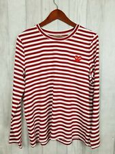 Floryday Red White Stripe Long Sleeve Top Size L New