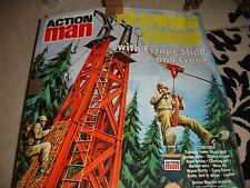 Vintage Action Man training tower (in original box) plus 3 Action men figures