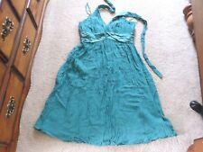 JONES NEW YORK GREEN SILK DRESS SIZE 10