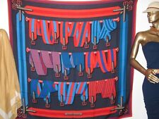HERMES 2010 Red/Blue SANGLES Cashmere Cachemire Shawl GM 140 by J.Metz