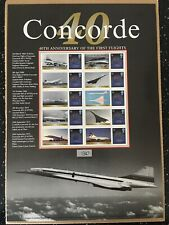 Concorde.40Th Anniversary Of The First Flights. Buckingham Sheets Number 25