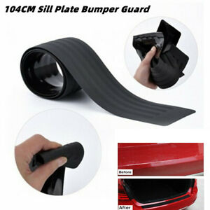 104CM Car Trunk Door Sill Plate Bumper Guard Protector Rubber Pad Trim Cover